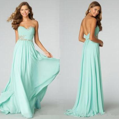 Prom Dress,Prom DressCustom Made  Prom Dress,Strapless Prom Dress, Long Prom Dress, Mint Prom Dresses, Wedding Prom Dress ,Mermaid Prom Dress, Cheap Prom Dresses, 2015 Prom Dress