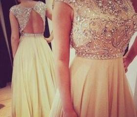 Custom Made Scoop Neck With Short Sleeves Long Prom Dresses Tulle A Line Party Dresses , Cheap Prom Dresses 2015 Prom Dress