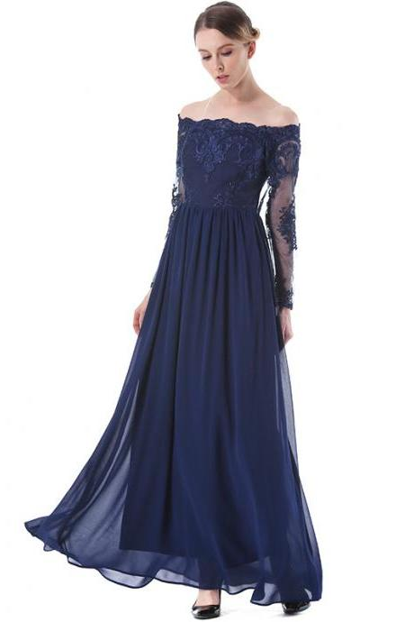 2017 Summer Fashion Off Shoulder Long Skirt Women Dress party dress prom dress