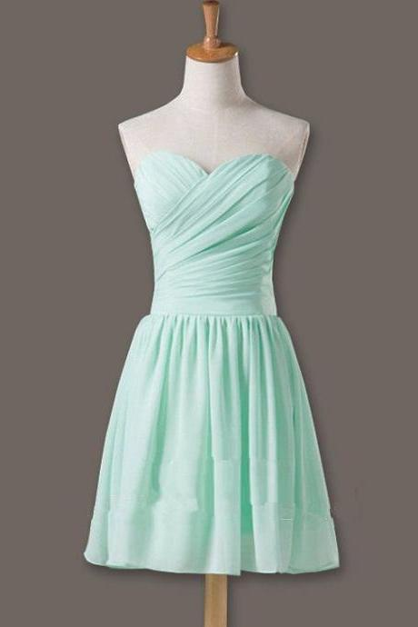 Pretty and Cute Mint Short Simple Prom Dresses 2015, Simple Short Prom Dresses, Graduation Dresses, Evening Dresses, Homecoming Dresses