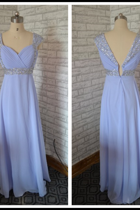 Cheap homecoming dresses,chiffon homecoming dresses,blue homecoming dresses,long homecoming dress,beaded homecoming dresses