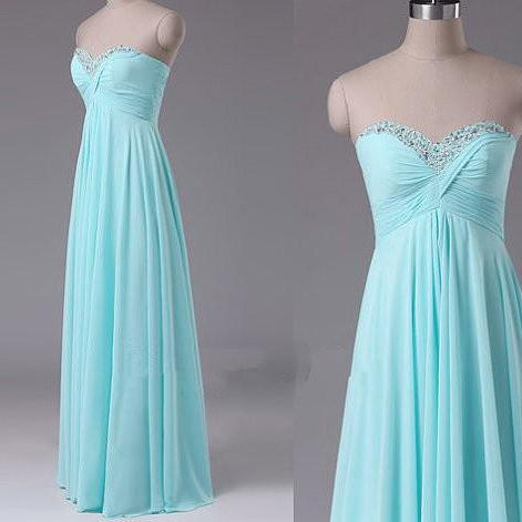 Light blue sweetheart neck long bridesmaid dresses 2016 on for Light blue wedding dress meaning